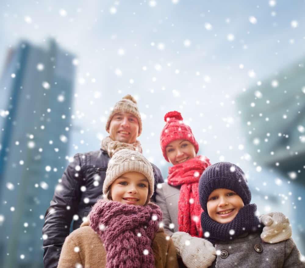Family photo winter color schemes - Shutterturf
