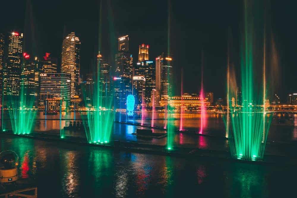 Spectra light show, Marina Bay Sands - Shutterturf
