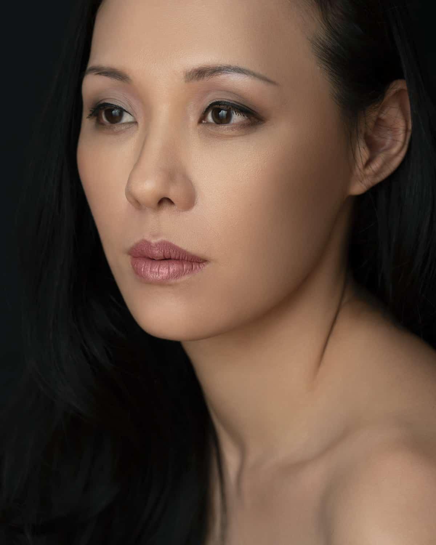 portrait photography singapore a very close headshot of a woman
